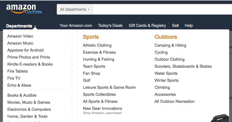 Amazon sub niches