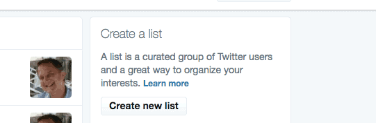 create a New List in Twitter