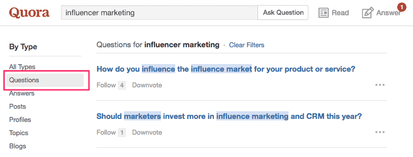 using Quora to find ideas for your next blog post