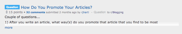 using Reddit to find ideas for your next blog post