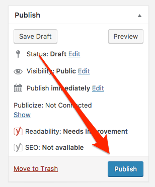 Publishing Your First Blog Post