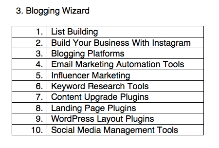 blogging wizard - seed words