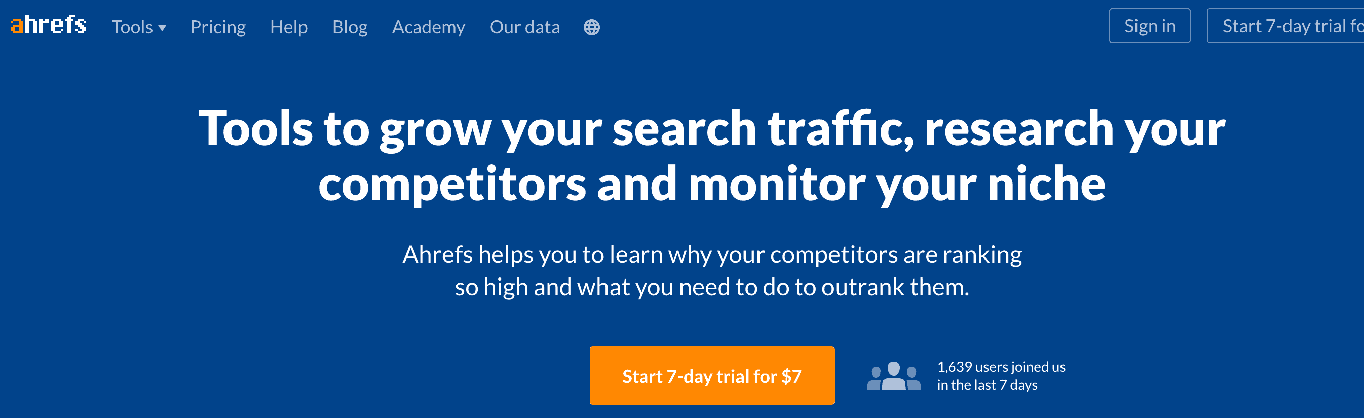 ahrefs competitor analysis tools