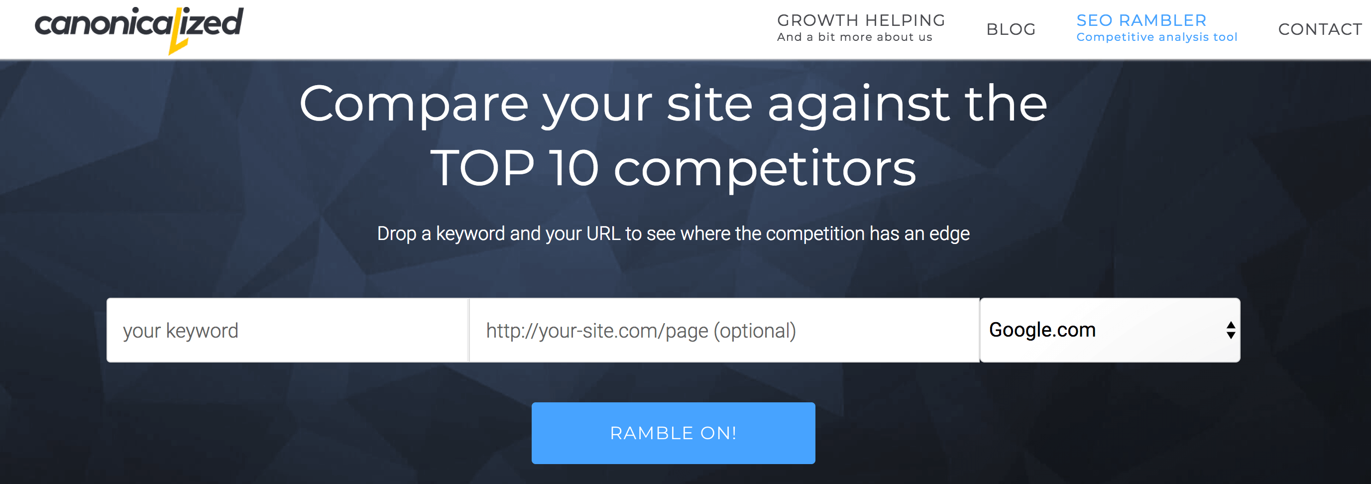 seorambler competitor analysis tools