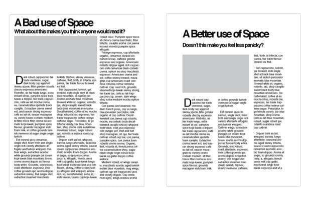 benefits of white space