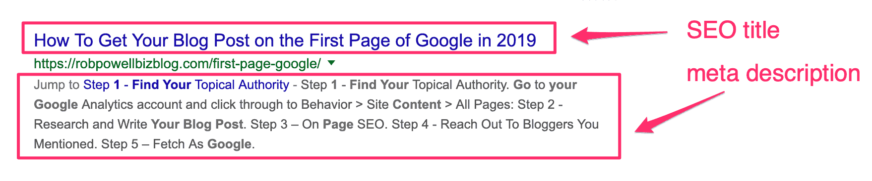 example of seo title and meta description