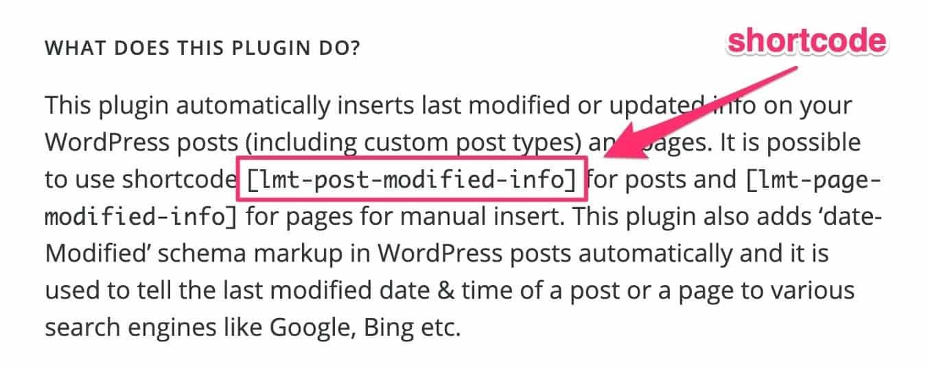 WP Last Modified Info plugin