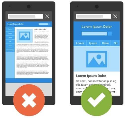 Google's 'mobilegeddon' graphic showing responsive web design