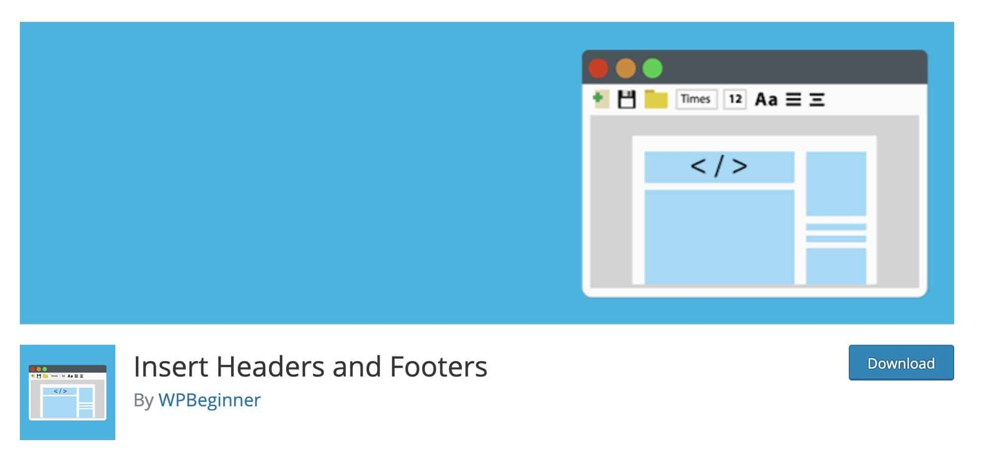 best tools for blogging - insert headers and footers