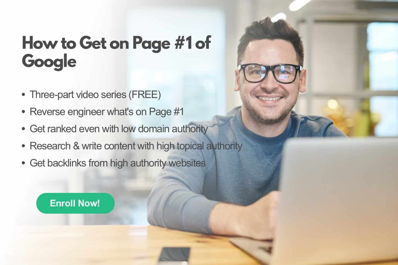 how to get on Page #1 of Google