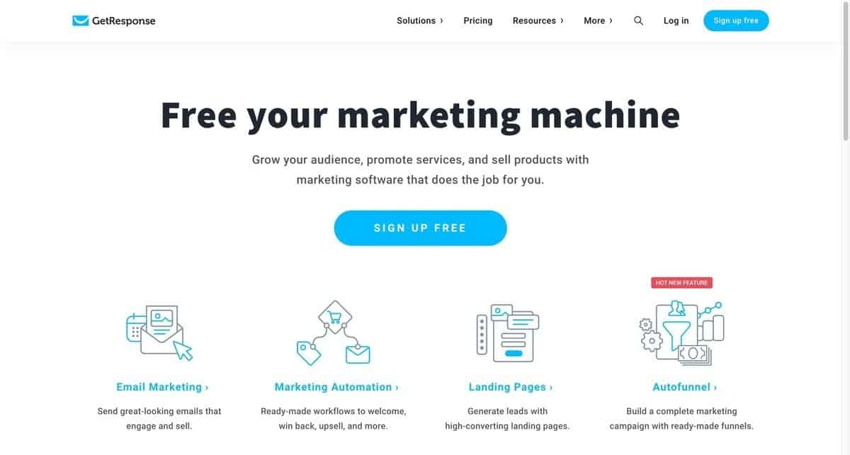 email marketing service - get response