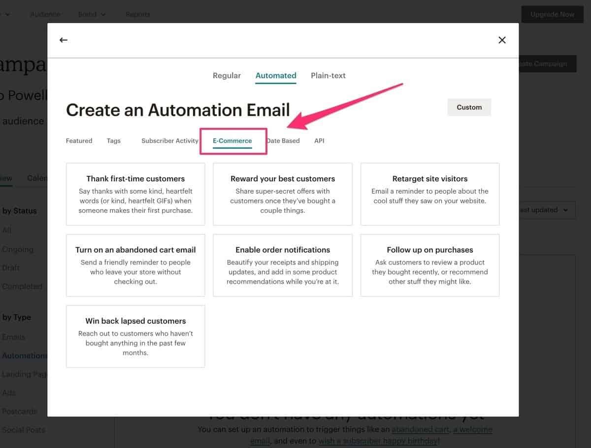 mailchimp automations