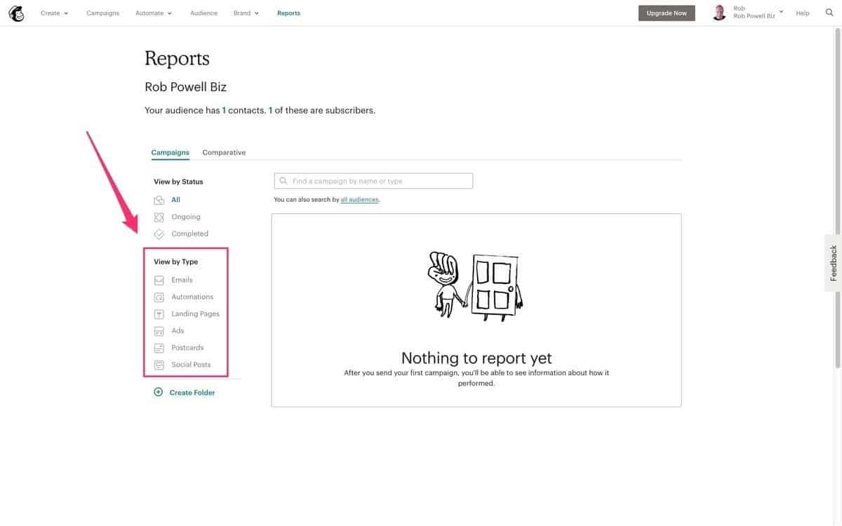 mailchimp - reports