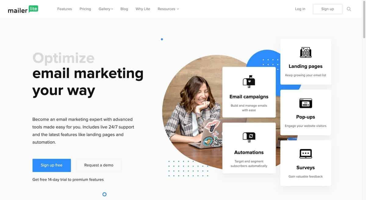 email marketing service - mailerlite