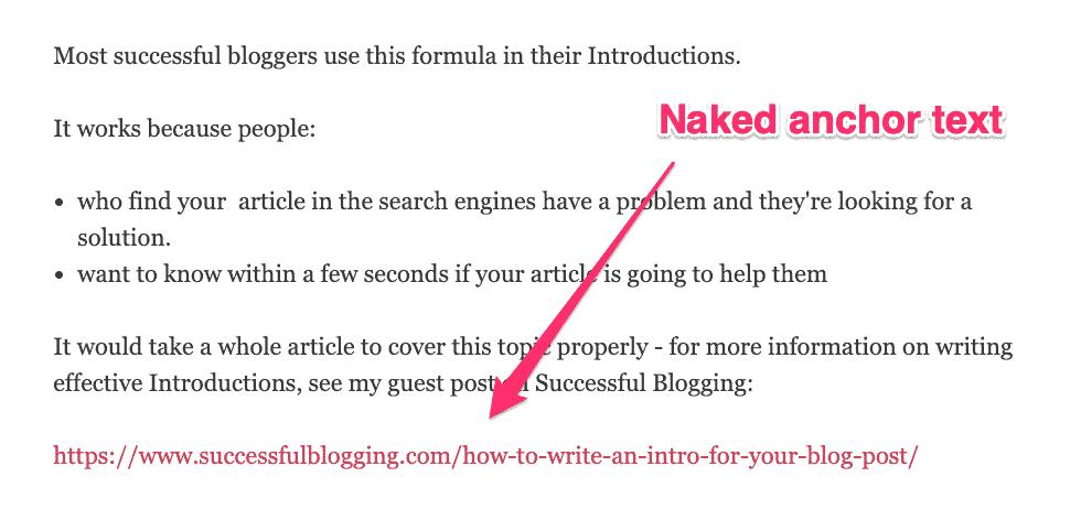 naked link
