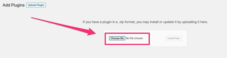uploading a WP plugin
