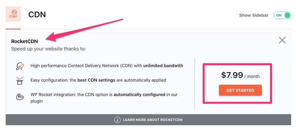 Use WP Rocket's own CDN