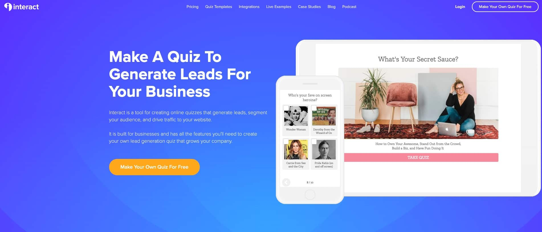 interact quiz builder
