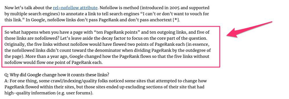 matt cutts june 2009 statement about pagerank sculpting