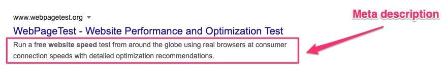 example of meta description