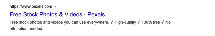 Pexels meta description