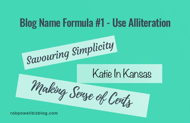 Blog Name Formula #1 - Use Alliteration