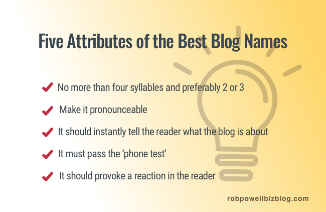 Five Attributes of the Best Blog Names