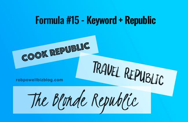 Formula #15 - Keyword + Republic