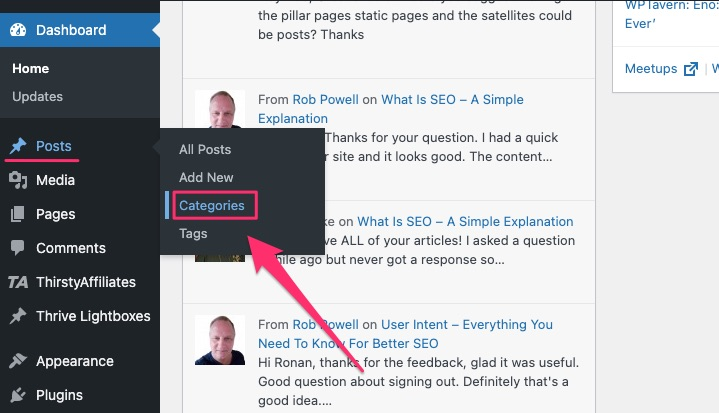 how to add categories in WordPress - 01