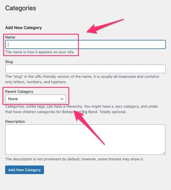 how to add categories in WordPress - 02