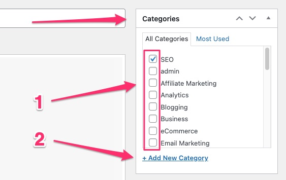 how to add categories in WordPress - 03