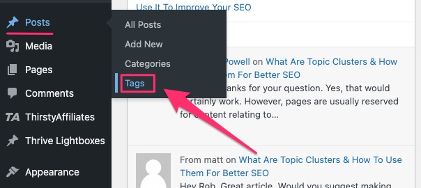 how to add tags in WordPress - 01
