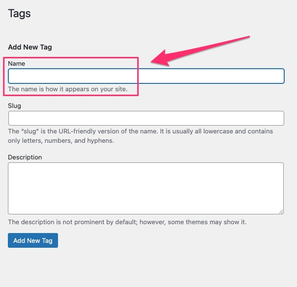 how to add tags in WordPress - 02