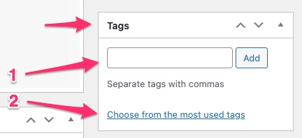 how to add tags in WordPress - 03