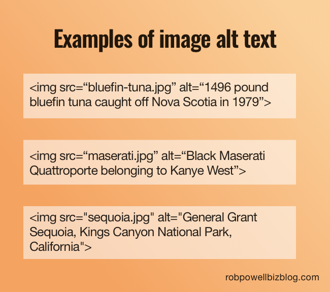 examples of image alt text