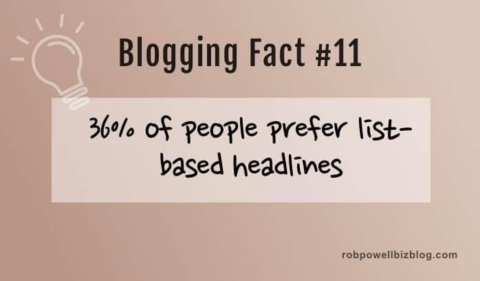 peopl prefer list-based headlines