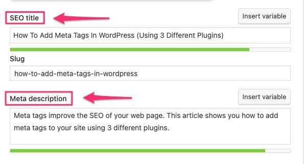 SEO mistakes - not adding meta tags