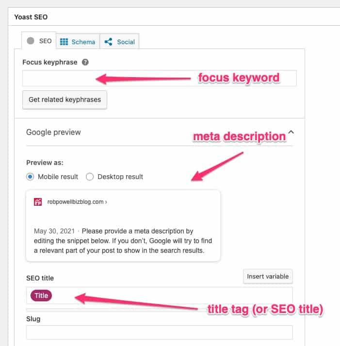 WordPress SEO tips: Yoast meta tags