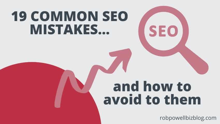 19 common SEO mistakes