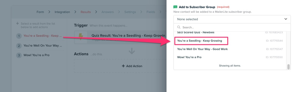 create a quiz for lead generation