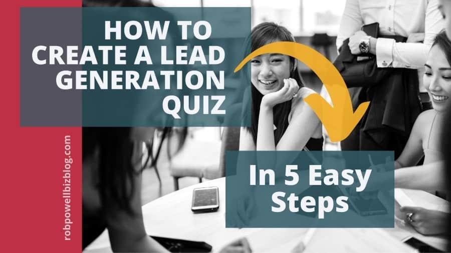 create a lead gen quiz