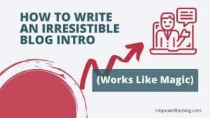 how to write blog intros