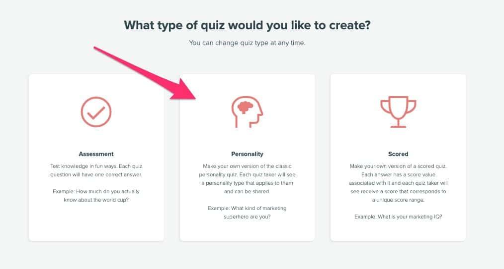 choose personality quiz