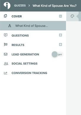 interact quiz builder menu