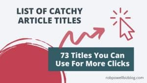 list of catchy titles