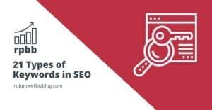 21 Types of Keywords in SEO