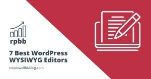 Best WordPress WYSIWYG Editor