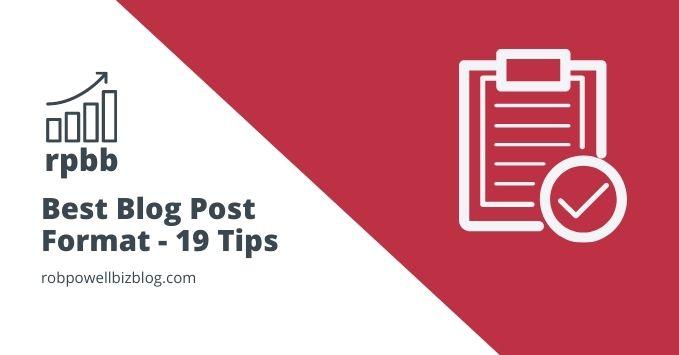 best blog post format tips