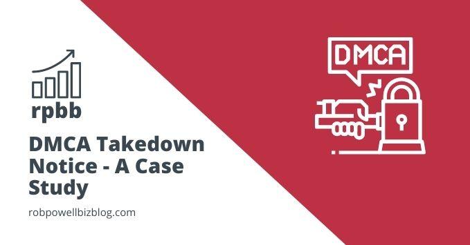 dmca takedown - a case study