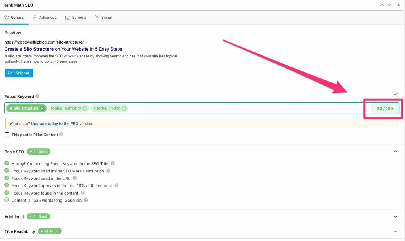 use rankmath for on-page SEO